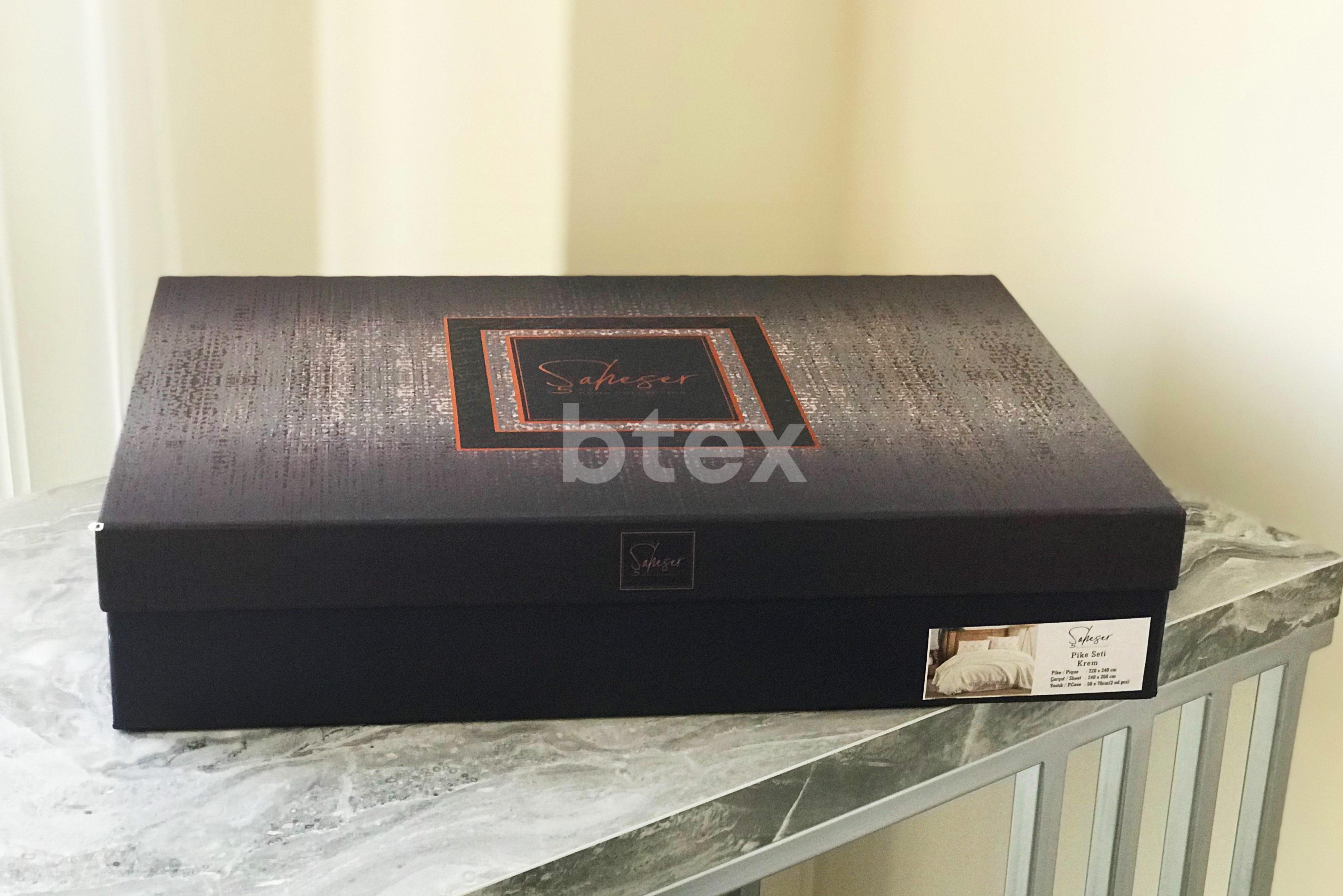 Комплект євро розміру в коробці Сатiн фото-3