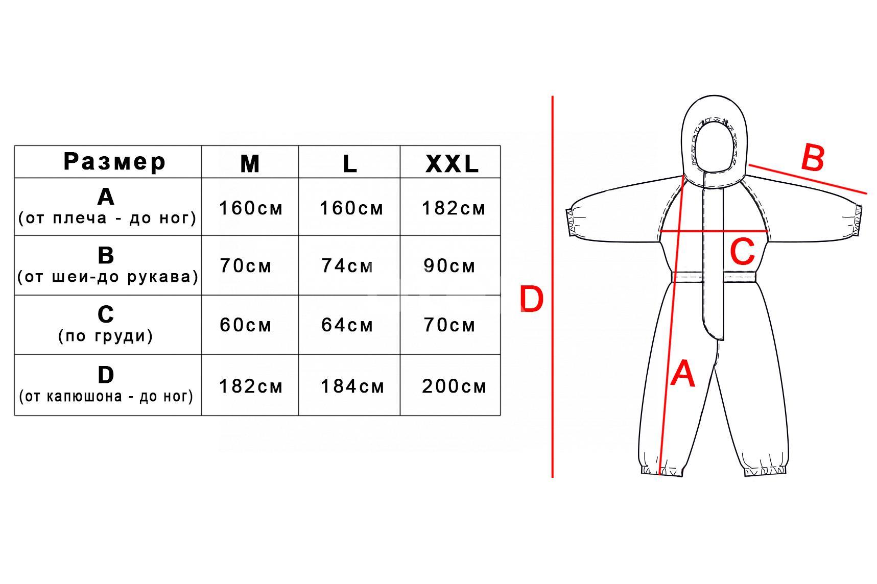 Комбінезон (одноразовий), однотонний, тканина Спанбонд, щільність - 50г / м2 фото-6