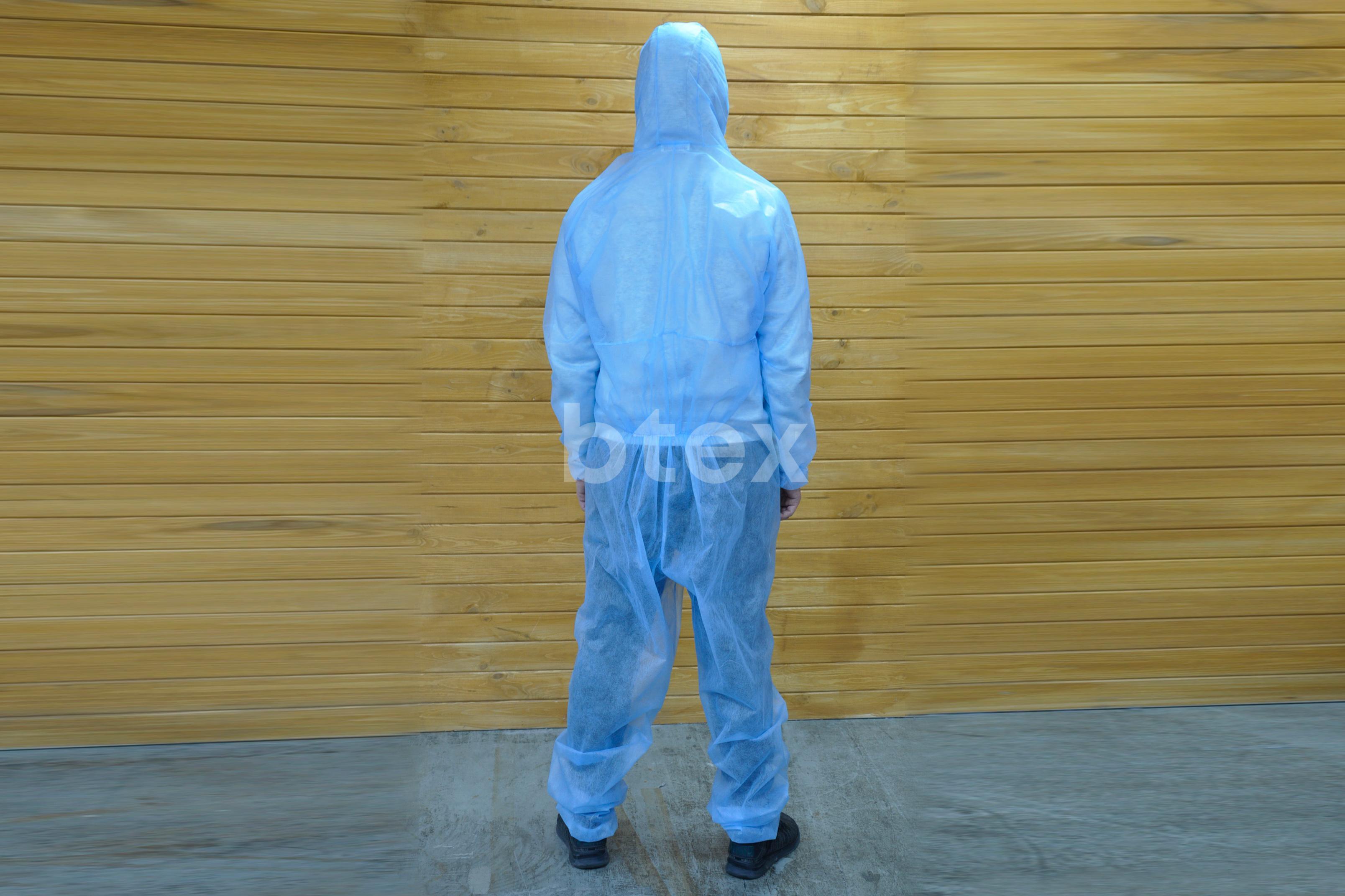 Комбінезон (одноразовий), однотонний, тканина Спанбонд, щільність - 50г / м2 фото-5